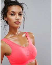 ONLY - Red Play Seamless Gym Bra - Lyst