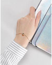 ASOS - Metallic Minimal Metal Ball Chain Bracelet - Lyst