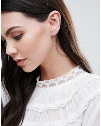 Orelia - Green Rectangle Stud Earrings - Lyst