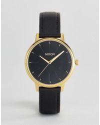 Nixon | Black Leather Kensington Watch | Lyst