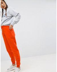 ASOS | Orange Basic Joggers With Tie | Lyst