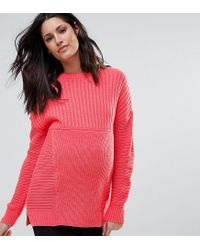 ASOS - Pink Maternity Ultimate Chunky Sweater - Lyst