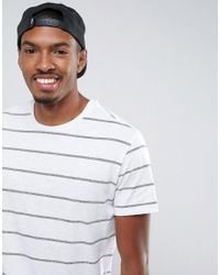 Pull&Bear | T-shirt In White And Navy Stripe for Men | Lyst
