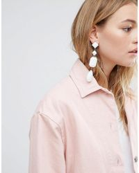 ASOS - White Jewel Earrings - Lyst