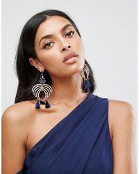 ASOS | Metallic Statement Chandelier Jewel Earrings | Lyst