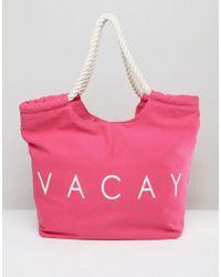 South Beach - Pink Vacay Beach Bag - Lyst