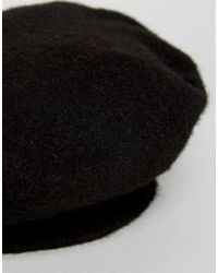 Missguided - Black Fluffy Beret - Lyst