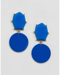 ASOS - Blue Color Pop Geo Jewel Earrings - Lyst
