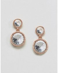 Ted Baker | Metallic Ronda: Rivoli Crystal Drop Earring | Lyst