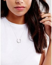 Fred Perry - Metallic Laurel Wreath Necklace - Lyst