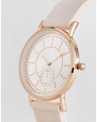 New Look - Pink Dial Silicone Watch - Lyst