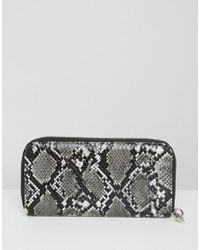French Connection - Gray French Connenction Faux Snakeskin Purse - Lyst