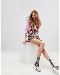Love Moschino - Multicolor Surprises Printed Playsuit - Lyst