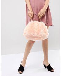 French Connection - Orange Faux Fur Bag - Lyst