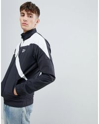 c788fc3d29cd2 Reebok Rebook Classics Contrast Track Jacket In Black Bk5095 in ...