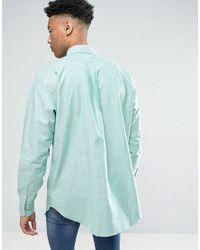 Polo Ralph Lauren - Tall Stretch Oxford Shirt Green Melange for Men - Lyst
