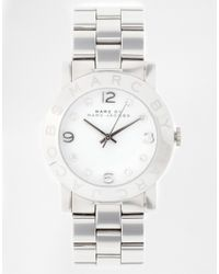 Marc Jacobs - Metallic Amy Silver Watch Mbm3054 - Lyst