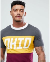 ASOS - Black Muscle Longline T-shirt With Colour Block & City Print for Men - Lyst