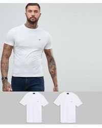 Emporio Armani - Crew Neck 2 Pack T-shirt In White for Men - Lyst