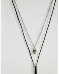 Icon Brand - Black Skull & Pendant Necklace Pack for Men - Lyst