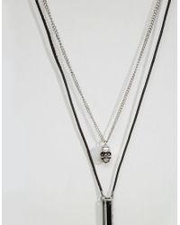 Icon Brand | Black Skull & Pendant Necklace Pack for Men | Lyst