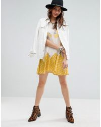 Free People - White Someone Like You Printed Dress - Lyst