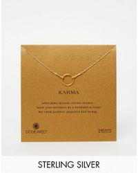 Dogeared   Metallic Gold Dipped Original Karma Necklace   Lyst