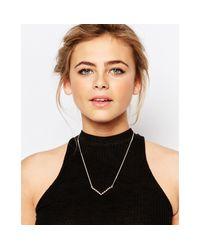 Coast | Metallic Rose Gold V Bar Necklace | Lyst