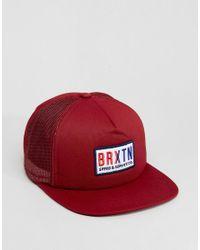 Brixton - Red Hayward Trucker Cap for Men - Lyst