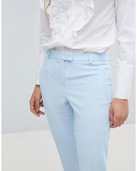 Miss Selfridge - Blue Cigarette Pants - Lyst