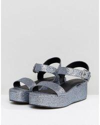 ASOS - Gray Toucan Wedge Sandals - Lyst