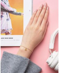 Dogeared - Metallic Gold Plated 'e' Love Letter Bracelet - Lyst