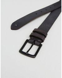 AllSaints - Gray Leather Slim Belt for Men - Lyst