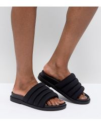 Monki - Black Padded Sliders - Lyst