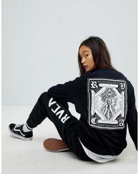RVCA - Black Boyfriend Long Sleeve T-shirt With Artist Benjamin Jeanjean Graphic - Lyst