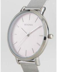 Sekonda - Metallic 2473 Mesh Watch In Silver - Lyst