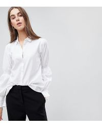 Y.A.S - White Shirt With Sleeve Detail - Lyst