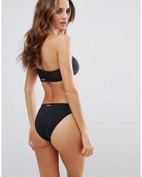 Stella McCartney | Black Stella Mccartney One Shoulder Neoprene Mesh Bikini Top | Lyst