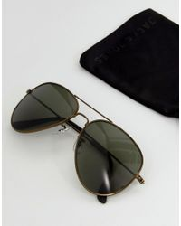 Jack & Jones - Aviator Sunglasses In Black for Men - Lyst