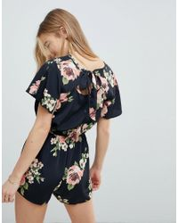 Band Of Gypsies - Multicolor Large Floral Playsuit - Lyst