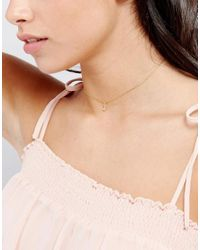 Orelia - Metallic Chain Choker With Initial J - Lyst