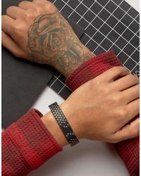 DIESEL - A-studdler Leather Bracelet In Black for Men - Lyst