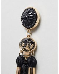 Ivyrevel - Black Tassel Beaded Earrings - Lyst