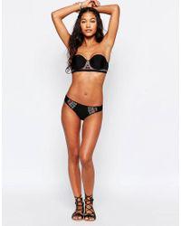Hobie - Black Embroidered Sash Side Hipster Bikini Bottoms - Lyst