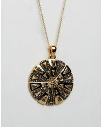 House of Harlow 1960 | Metallic Engraved Flower Necklace | Lyst