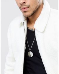 ASOS - Metallic Necklace In Silver With Locket Pendant for Men - Lyst