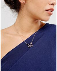 Ted Baker - Metallic Love Letter Pendant Necklace - Lyst