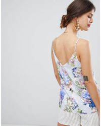 Oasis - Multicolor Cami Top In Floral Print - Lyst