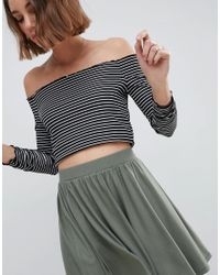 ASOS DESIGN - Green Design Mini Skater Skirt - Lyst