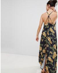 Somedays Lovin - Black River Running Floral Maxi Beach Dress With Side Split - Lyst